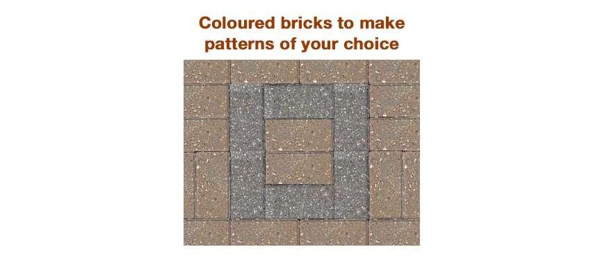 coloured bricks block paving